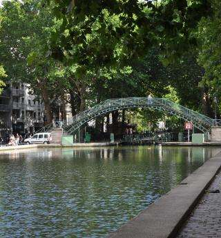 The Canal Saint-Martin, epitome of Parisian trendiness